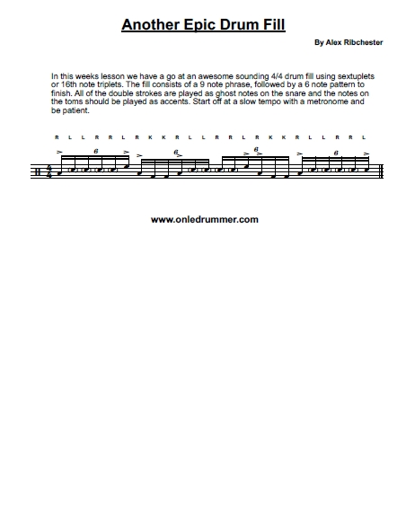 Another Sweet Drum Lick - Sheet Music