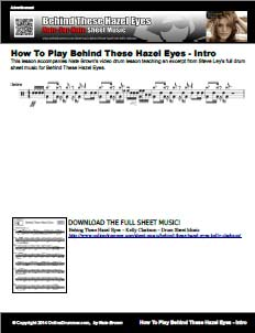 Intro For Behind These Hazel Eyes - Lesson Accompaniment