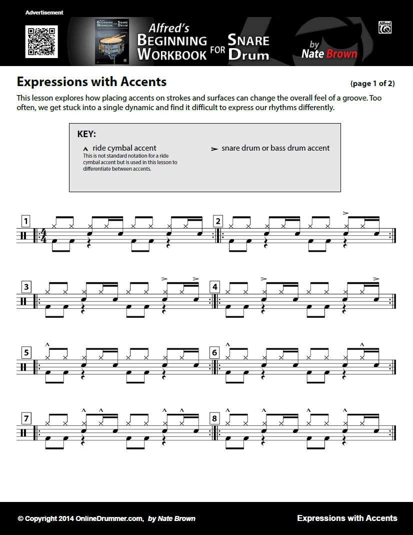 Expression With Accents - Sheet Music
