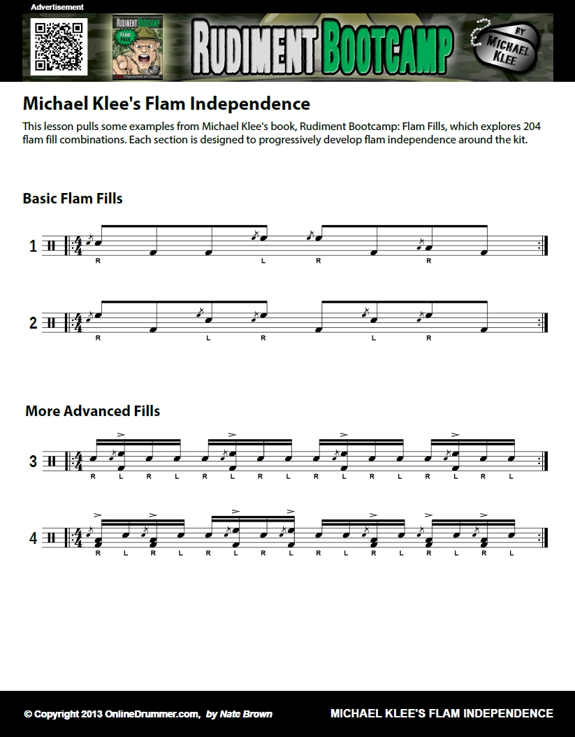 Mike Klee's Flam Fills - Sheet Music