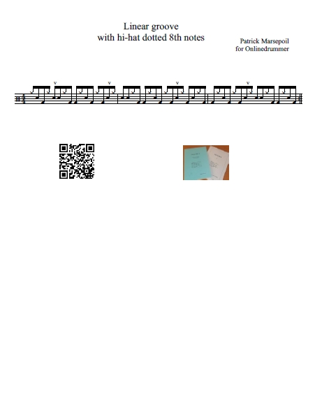 Linear Groove with Dotted Eighth Note