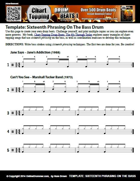 Sixteenth Phrasing Bass