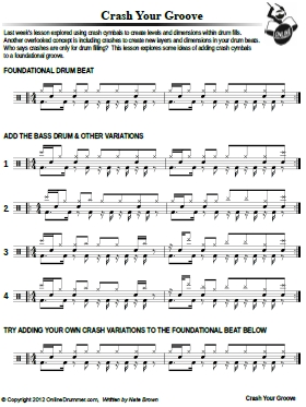 Crash Your Groove - Sheet Music