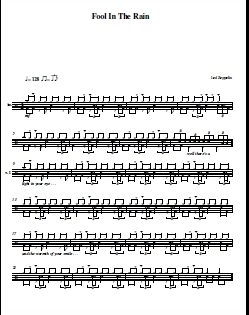 how to play fool in the rain on drums