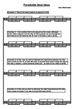 Fun With Paradiddles - Sheet Music