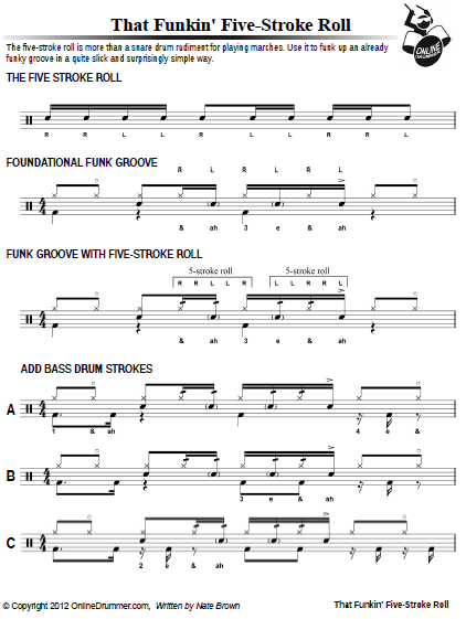 That Funkin' Five-Stroke Roll - Sheet Music