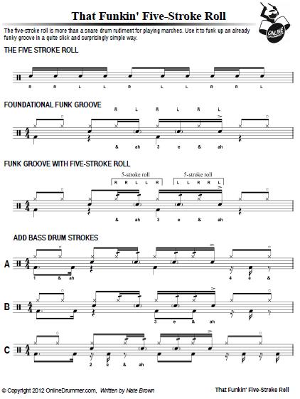 that funkin five stroke roll sheet music. Black Bedroom Furniture Sets. Home Design Ideas