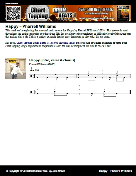 Happy – Pharrell Williams – Sheet Music