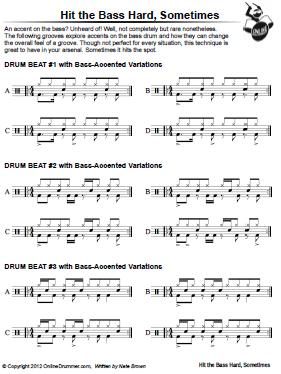 Hit The Bass Hard Sometimes - Sheet Music