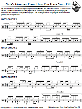 Nate's Grooves From - How You Have Your Fill - Sheet Music