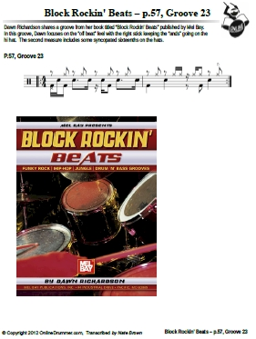 Block Rockin' Beats - p.57, Groove 23 - Sheet Music