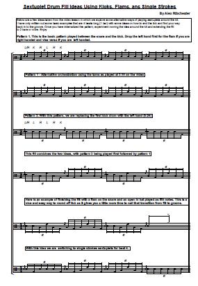 Drum jazz drum tabs : Sextuplet Drum Fills – Sheet Music   OnlineDrummer.com