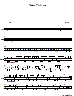 Drum sheet music for songs free livin on a prayer bon for Best house music songs ever