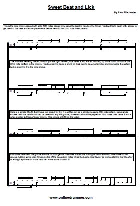 Sweet Beat and Lick - Sheet Music