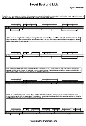 Drum jazz drum tabs : Drum Sheet Music – Drum Transcriptions and Scores   OnlineDrummer ...